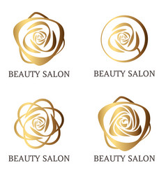 flower logo set for beauty salon beauty shop spa vector image vector image