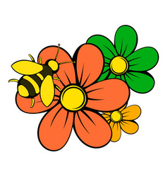 flowers icon icon cartoon vector image vector image