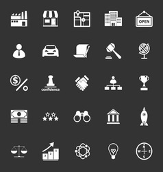 Franchise icons on gray background vector image vector image