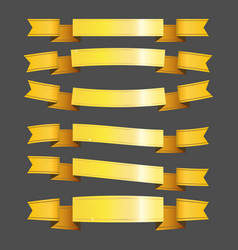 Gold ribbons and banners vector