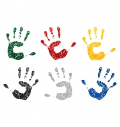 hand prints vector image vector image
