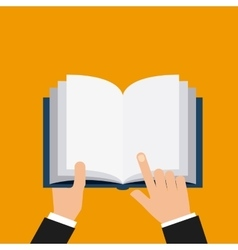 hands human with book reading vector image
