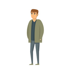 handsome young man in jacket and pants vector image vector image