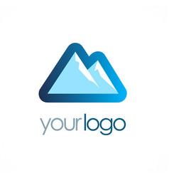 Mountain icon logo vector