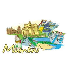 Mumbai doodles vector