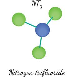 Nitrogen trifluorid nf3 molecule vector