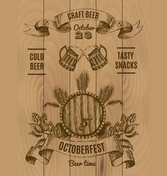 Octoberfest vintage poster vector