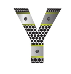 perforated metal letter Y vector image vector image