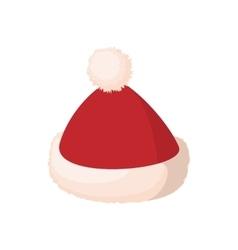 Santa cap icon cartoon style vector image