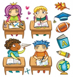 school children vector image vector image
