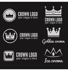 Set of logo labels badges emblems or logotype vector image vector image