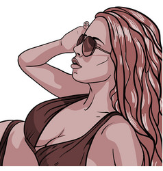 sexy young woman in swimsuit vector image vector image
