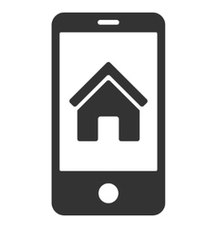 Smartphone homepage flat icon vector