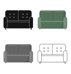 Sofa icon of for web and vector