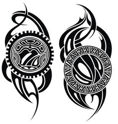 Styled tattoo vector image