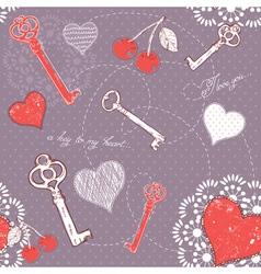 Valentine romantic love seamless pattern vector image