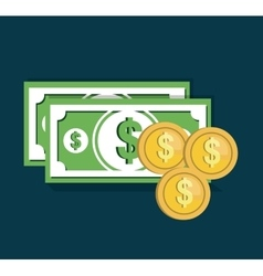 Money cash flat icon vector
