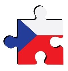 Isolated czech republican flag vector
