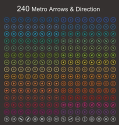Full color Metro arrows and direction vector image