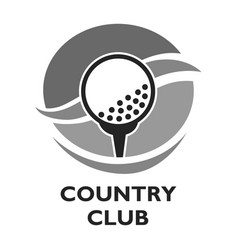golf country club logo template or icon for vector image