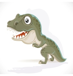 Little tyrannosaurus isolated on white background vector