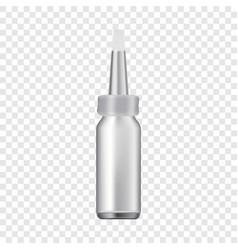 Nasal drops icon realistic style vector