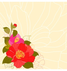 Springtime Colorful Flower Greeting Card vector image