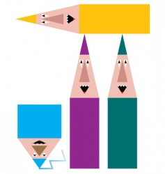 funny pencils vector image