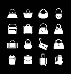 Set icons of bags vector