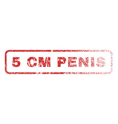 5 cm penis rubber stamp vector image