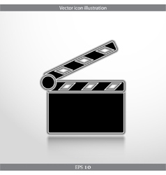 Clapperboard web icon vector