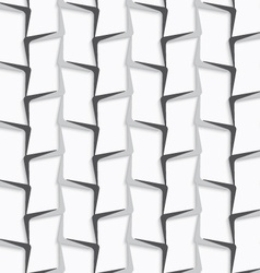 Geometrical ornament with white and gray vertical vector