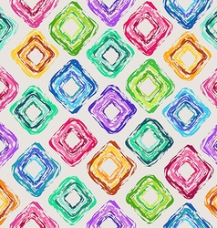 Seamless pattern of colorful rhombus vector