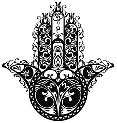 Decorative hamsa vector