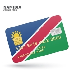 Credit card with namibia flag background for bank vector