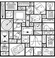 Mathematics science theme seamless hand drawn vector