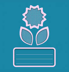 Abstract flower card blue vector
