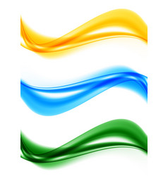 Abstract smooth soft waves set vector