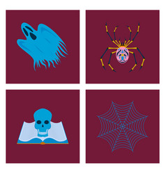 assembly flat zombie men ghost spider vector image