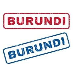 Burundi Rubber Stamps vector image vector image