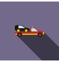 Car evacuator icon in flat style vector image vector image