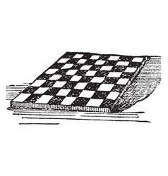 Checker-board vintage vector