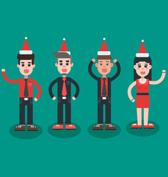 Christmas party employees vector