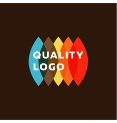 Colored flat semicircle style quality mark logo vector image vector image