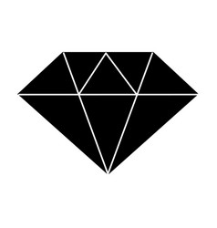 Contour beautiful gem diamond to luxury use vector