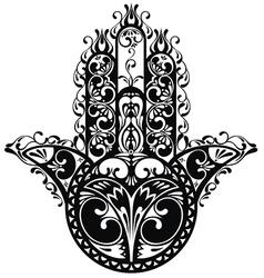 Decorative hamsa vector image vector image
