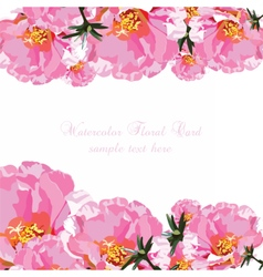 Delicate Pink Roses bouquet card vector image vector image