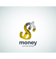 Dollar logo template vector