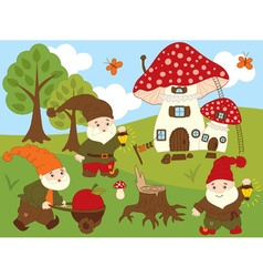 Forest Gnomes Set vector image