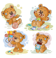 funny with teddy bear on the theme vector image vector image